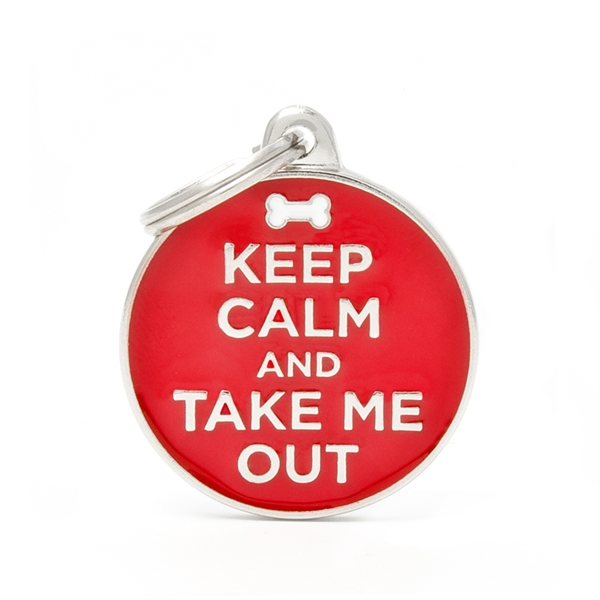 Billede af Keep Calm and Take Me Out hundetegn