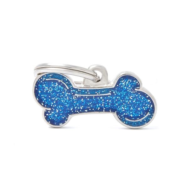 Lille blåt Shine kødben hundetegn