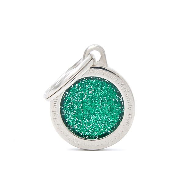 Lille grønt Shine cirkel hundetegn