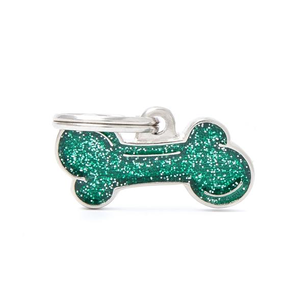Lille grønt Shine kødben hundetegn