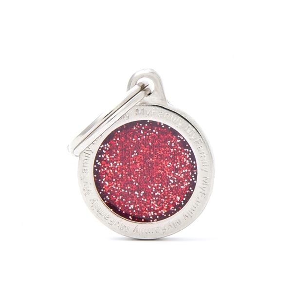 Lille rødt Shine cirkel hundetegn