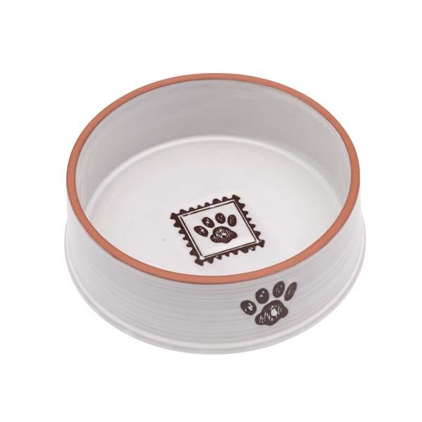 Image of Melamin mad- og vandskål til hund