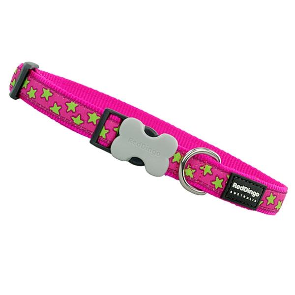 Image of   Reddingo Hundehalsbånd Pink med stjerner