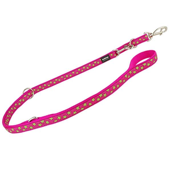 Reddingo dressurline Pink med lime stjerner