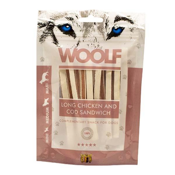 Image of Hundegodbid Woolf kylling/torsk sandwich100g