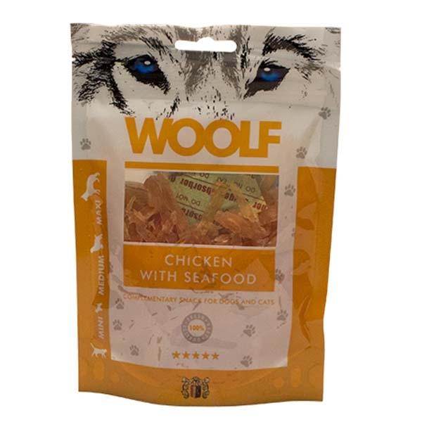 Billede af Hundegodbid Woolf kylling og skaldyr, 100 gram
