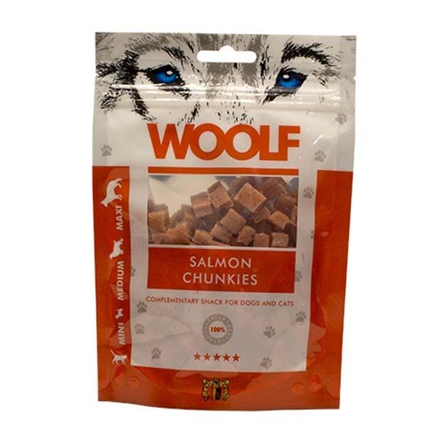 Image of Hundegodbid Woolf lakse chunkies 100g