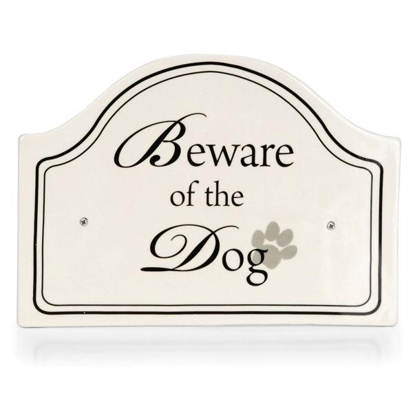 """Billede af Dekorativt """"Pas på hunden"""" skilt - Designed by Lotte"""