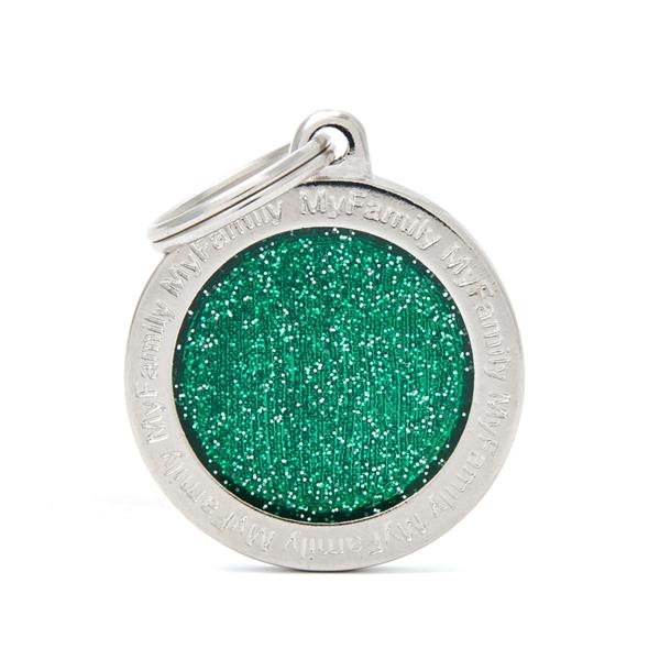 Stort grønt Shine cirkel hundetegn
