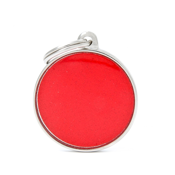 Stort rødt Reflektiv cirkel hundetegn