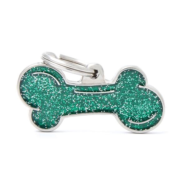 Stort grønt Shine kødben hundetegn