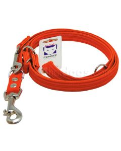 FENRIZ webbing dressurline-2,5m-2,5 cm-Orange