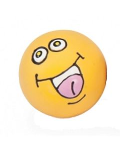 Latex hundebold med udtryk-Gul