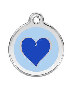 Kattetegn med blåt hjerte