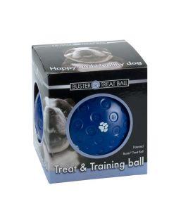 Buster Treat Ball - hundelegetøj-Blå-S