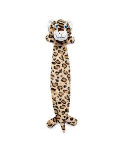 Hundelegetøj flad ruskeplys-Leopard