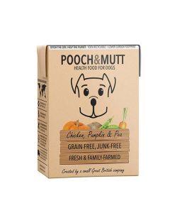 Pooch&Mutt - Hundefoder med Kylling og græskar, 375g