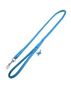 Rundsyet læder førerline-Blå-Ø: 6 mm