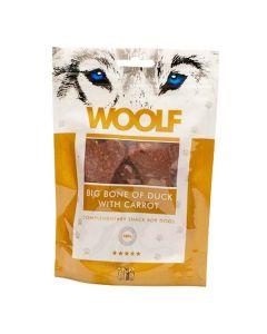Hundegodbid Woolf kødbensformet med and/gulerødder, 100g