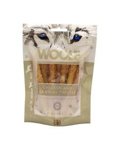 Hundegodbid Woolf tyggesnack med kylling, 100g
