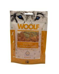 Hundegodbid Woolf kylling og skaldyr, 100 gram
