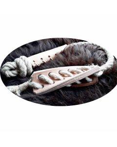 Naturligt reblegetøj til hund, der er et sjovt trække, bide og kastelegetøj